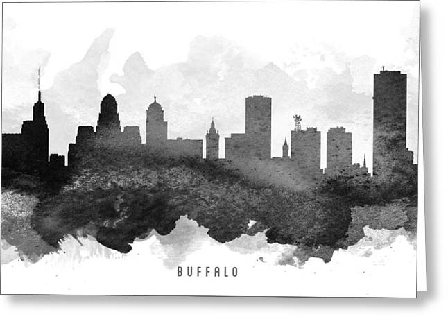 Buffalo Digital Greeting Cards - Buffalo Cityscape 11 Greeting Card by Aged Pixel