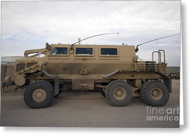 Buffalo Mine Protected Vehicle Greeting Card by Terry Moore