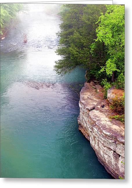 Buffalo River Mist Greeting Card by Marty Koch