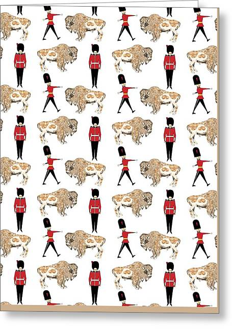 Buffalo Greeting Cards - Buffalo Soldier Greeting Card by Beth Travers