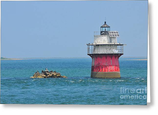 Plymouth Massachusetts Greeting Cards - Bug Light Greeting Card by Catherine Reusch  Daley
