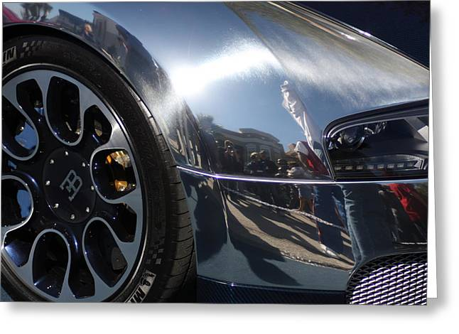Bugatti Front Greeting Card by Michael Albright