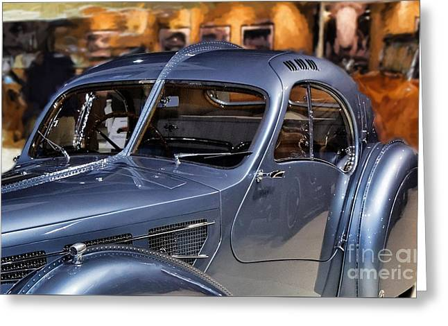 Bugatti Side View.  Greeting Card by Garland Johnson