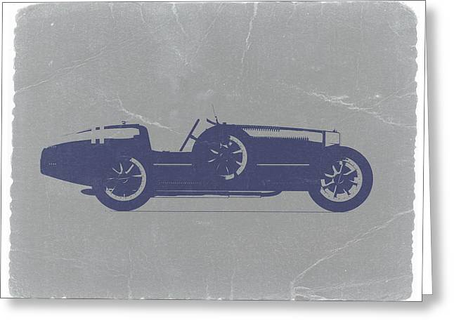 Old Car Greeting Cards - BUGATTI Type 35 Greeting Card by Naxart Studio