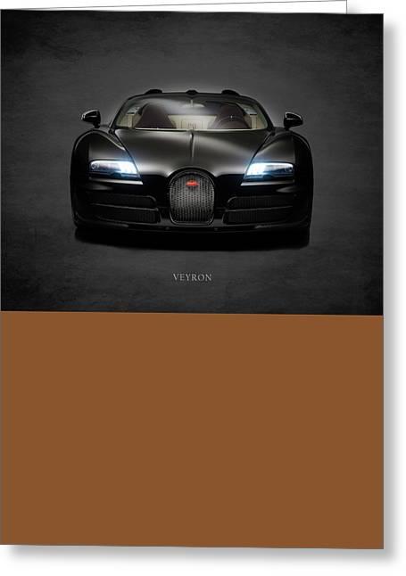 Bugatti Veyron Greeting Card by Mark Rogan