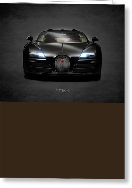 Bugatti Greeting Cards - Bugatti Veyron Greeting Card by Mark Rogan