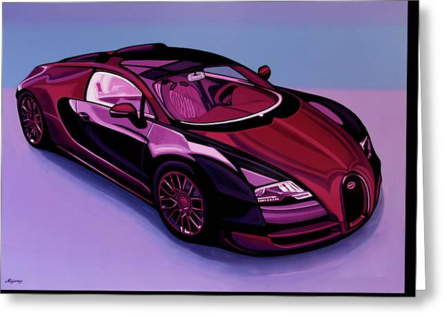 Bugatti Veyron 2005 Painting Greeting Card by Paul Meijering