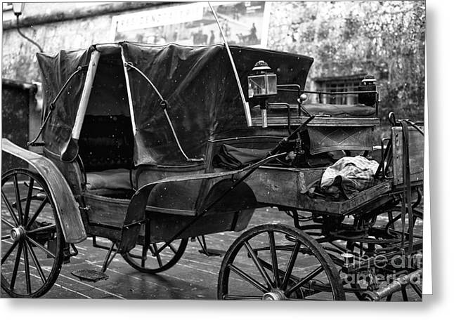 Horse And Buggy Photographs Greeting Cards - Buggy in Salzburg Greeting Card by John Rizzuto