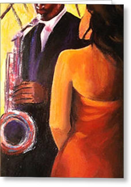 Bugle Player's Greeting Card by Debora Calicchia