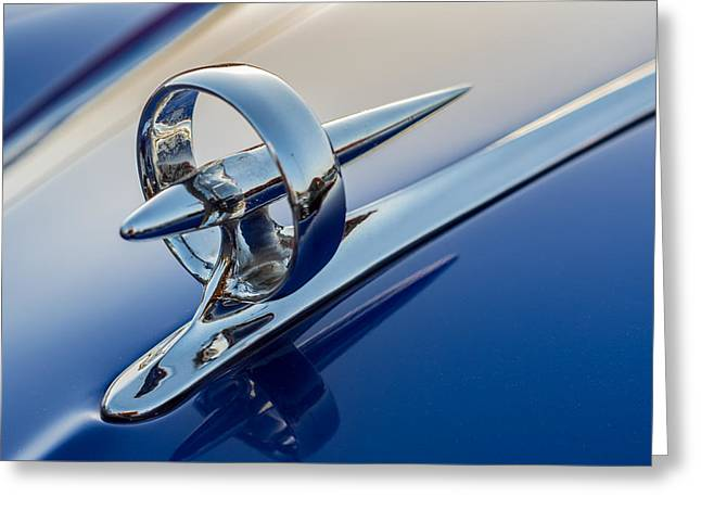 Collector Hood Ornament Greeting Cards - Buick Bullseye Greeting Card by Paul Barkevich