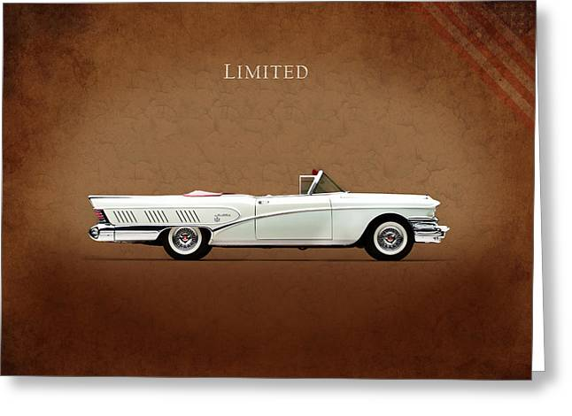 Classic Car Greeting Cards - Buick Limited 1958 Greeting Card by Mark Rogan