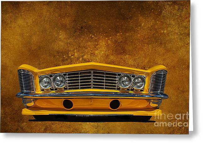 Collector Hood Ornament Greeting Cards - Buick Riviera Greeting Card by Jim  Hatch
