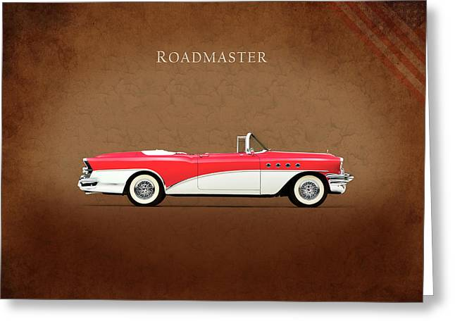 Classic Car Greeting Cards - Buick Roadmaster 1955 Greeting Card by Mark Rogan