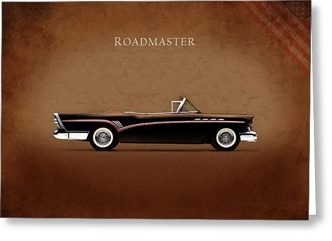 Buick Greeting Cards - Buick Roadmaster 1957 Greeting Card by Mark Rogan