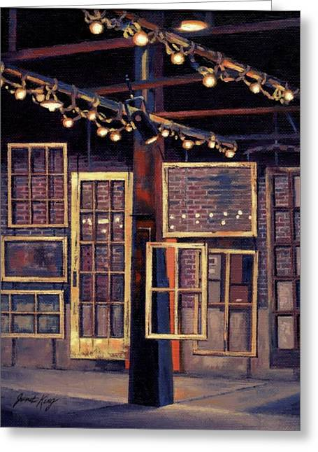 Building 8 At The Factory Greeting Card by Janet King