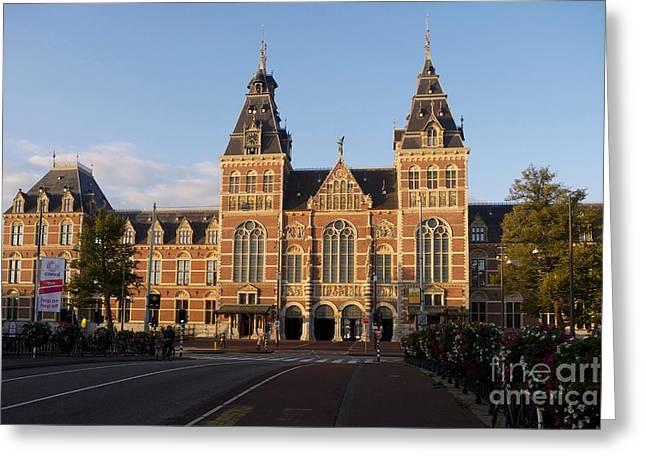 Museums Art Greeting Cards - Building exterior of Rijksmuseum. Amsterdam. Holland Greeting Card by Bernard Jaubert