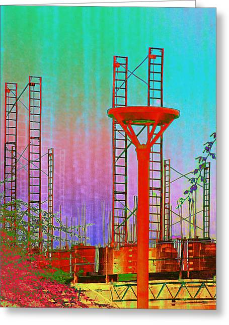 Asu Greeting Cards - Building In The SouthWest Greeting Card by Richard Henne