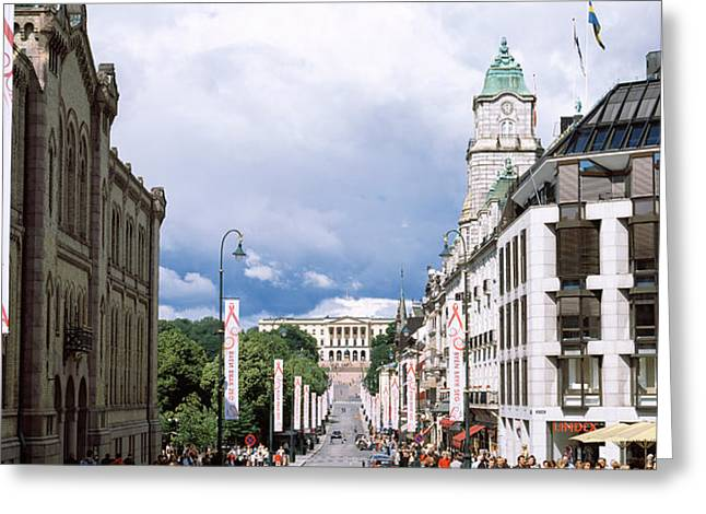 Buildings Along A Street With Royal Greeting Card by Panoramic Images