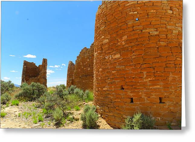 Arid Life Photographs Greeting Cards - Buildings at Hovenweep Greeting Card by Jeff  Swan