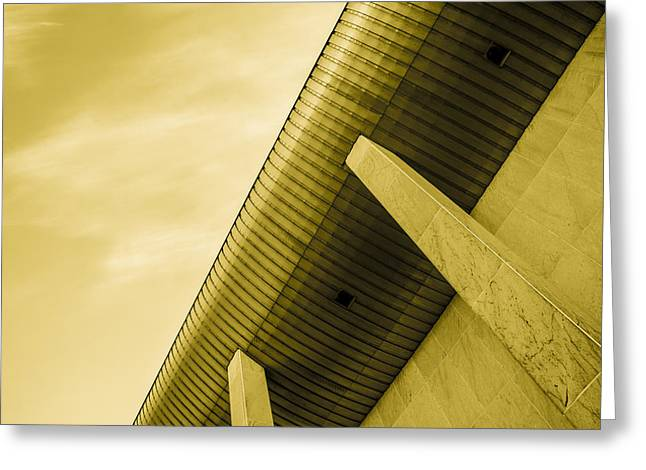 Residential Structure Digital Greeting Cards - Buildings in concrete Greeting Card by Toppart Sweden