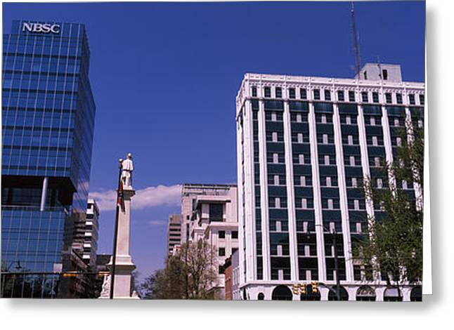 Buildings Near Confederate Monument Greeting Card by Panoramic Images
