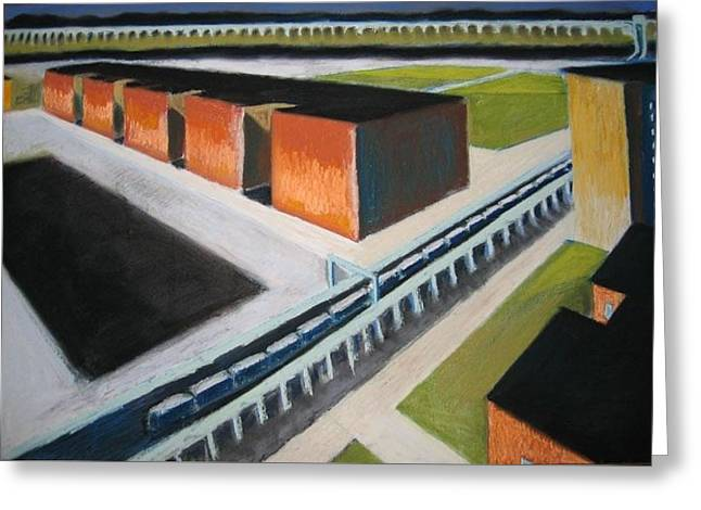 Cubist Pastels Greeting Cards - Buildings of central queens Greeting Card by Craig Barrack