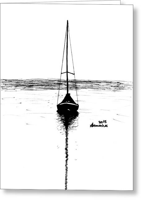 Pen And Ink Drawing Greeting Cards - Built for Water Greeting Card by Kayleigh Semeniuk