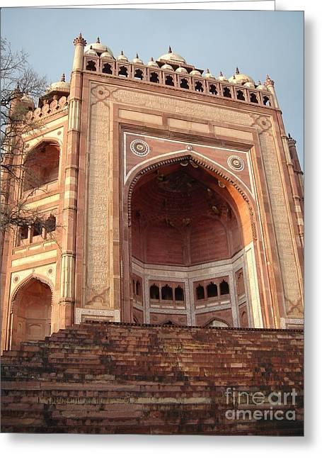 Buland Darwaza - Fatehpur Sikri  Greeting Card by Mike Holloway