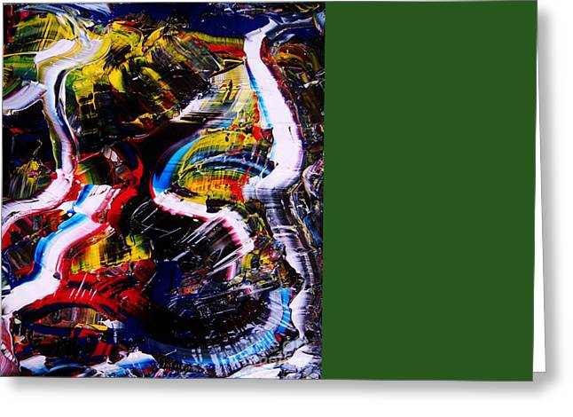 Sacred Bull Greeting Cards - Bull Fight Greeting Card by Chris Brightwell