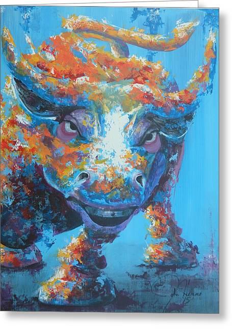 Bull Market C1 Greeting Card by John Henne