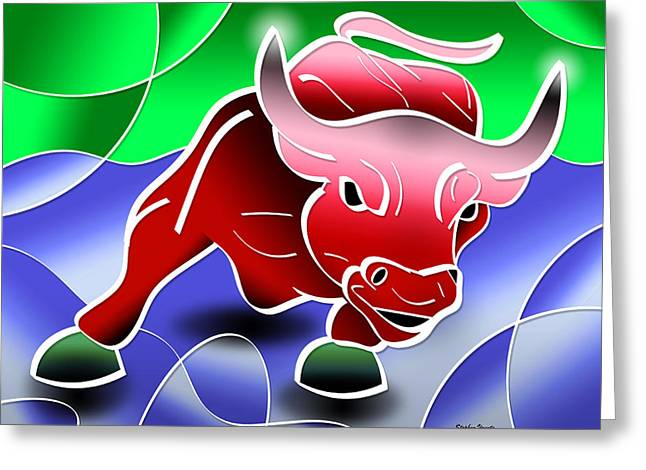 Cost Digital Greeting Cards - Bull Market Greeting Card by Stephen Younts