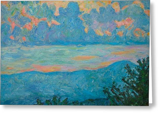 Impressionist Greeting Cards - Bull Mountain Greeting Card by Kendall Kessler