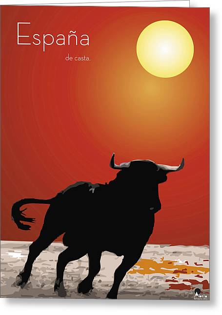 Tasteful Digital Greeting Cards - Bull Run Greeting Card by Joaquin Abella