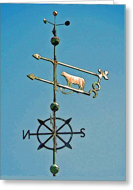 Weathervane Greeting Cards - Winds of Change Greeting Card by Jean Hall