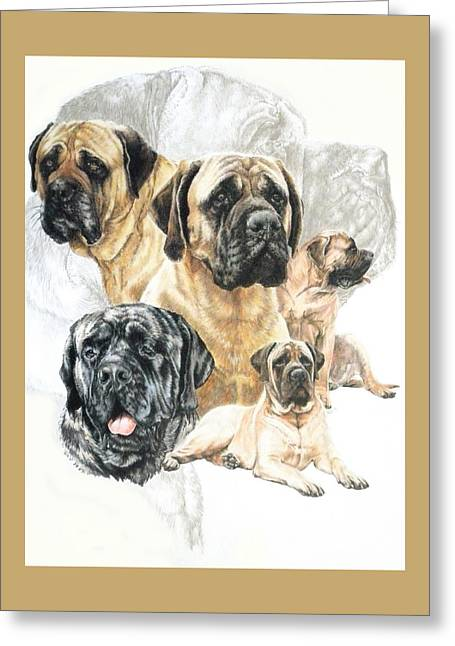 Working Dog Greeting Cards - Bullmastiff w/Ghost Greeting Card by Barbara Keith