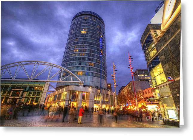 Tone Mapped Greeting Cards - BullRing Centre Greeting Card by Yhun Suarez