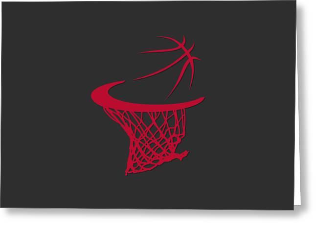 Basket Ball Greeting Cards - Bulls Basketball Hoop Greeting Card by Joe Hamilton