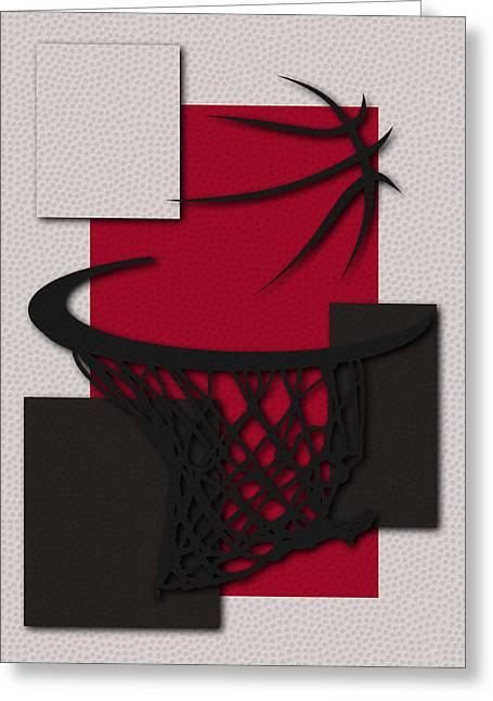 Basket Ball Greeting Cards - Bulls Hoop Greeting Card by Joe Hamilton