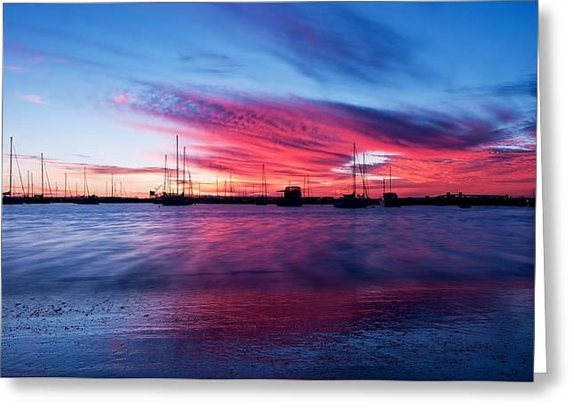 Seaside Digital Greeting Cards - Bunbury Harbour Greeting Card by Heather Thorning