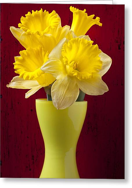 Handles Greeting Cards - Bunch Of Daffodils Greeting Card by Garry Gay