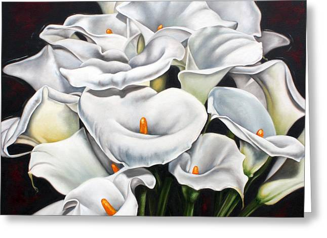 Floral Sculptures Greeting Cards - Bunch of Lilies Greeting Card by Ilse Kleyn