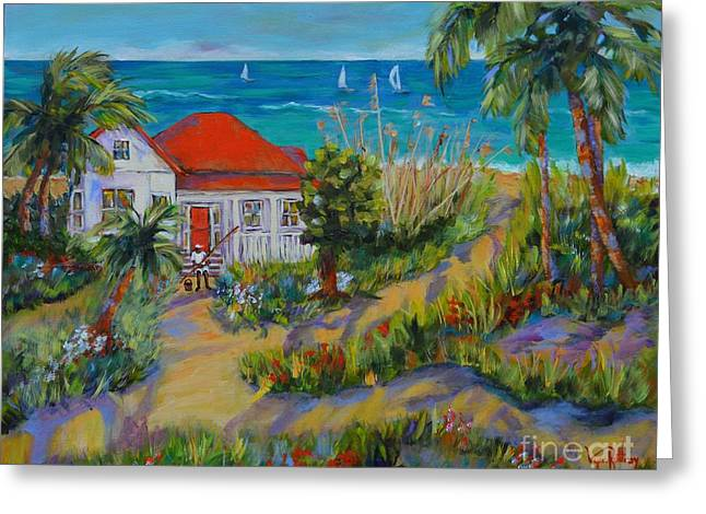 Bungalow Greeting Cards - Bungalow By the Sea Greeting Card by Lynn Rattray