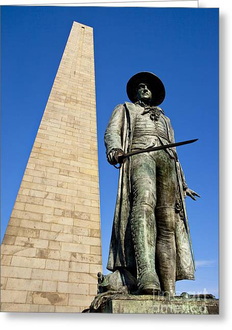 Prescott Greeting Cards - Bunker Hill Memorial Greeting Card by Brian Jannsen