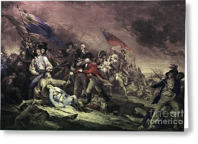 Redcoats Greeting Cards - Bunker Hill Greeting Card by Omikron