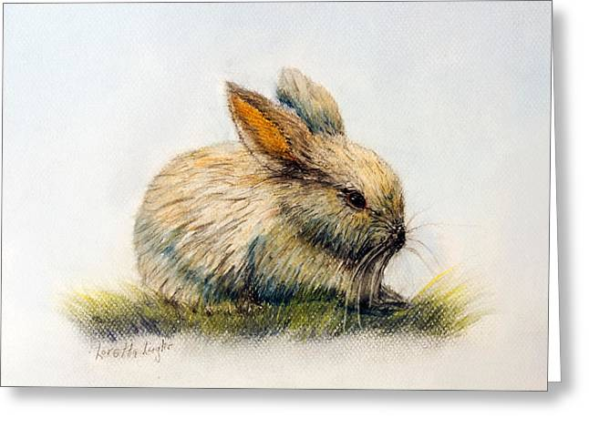 Food And Beverage Pastels Greeting Cards - Bunny Greeting Card by Loretta Luglio