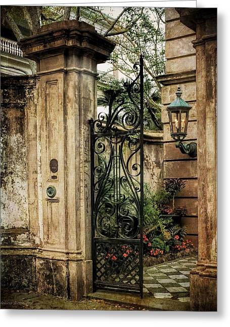 Historic Home Greeting Cards - Buonasera Charleston Greeting Card by Melissa Bittinger