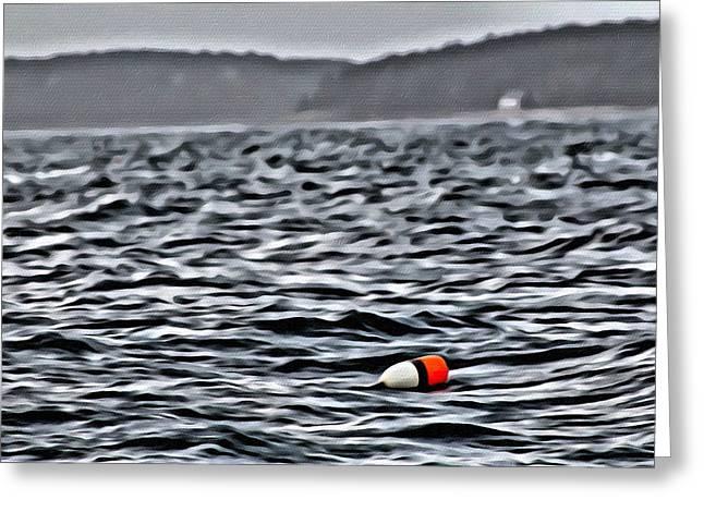 Coastal Maine Greeting Cards - Buoy 16 Greeting Card by Judy Bernier