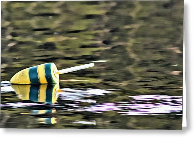 Coastal Maine Greeting Cards - Buoy 4 Greeting Card by Judy Bernier