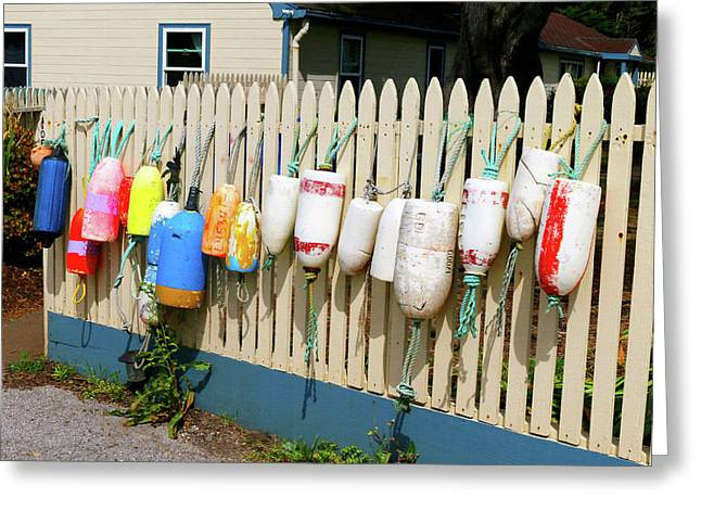 Buoys At Point Montara Lighthouse Greeting Card by Art Block Collections