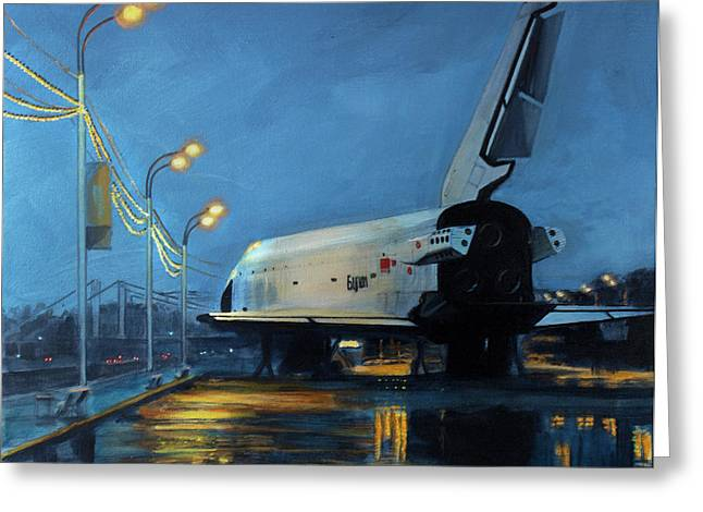 Buran Greeting Card by Simon Kregar